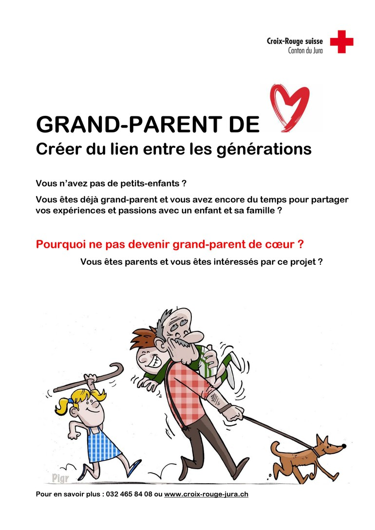 Affiche - Grand-parents de coeur
